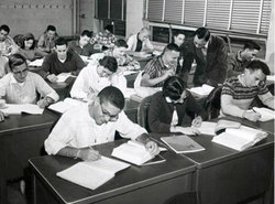 1950s students in classroom