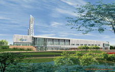 Artist�s rendering of A&E Center by Moody-Nolan, Inc.