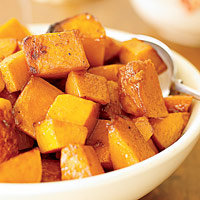 Baked Squash and Maple Syrup