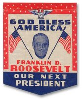 Banner for Democratic Candidate, Franklin D. Roosevelt (1932) (Photo: GeorgiaInfo).