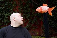 Ben Gruber '94 and Goldfish Puppet