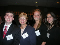 Beta Alpha Psi students and associate professor Patricia Libby.