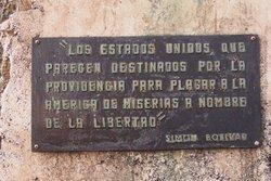 Bolivar's quote, in Cuba