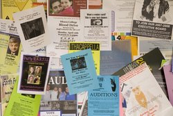 Bulletin board with fliers
