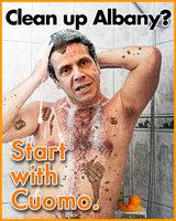 """Clean up Albany? Start with Cuomo."" Flyer/Poster (2010)"