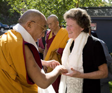 Dalai Lama and Peggy Williams