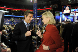 David Muir and Diane Sawyer