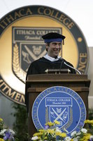 David Muir speaks at graduation