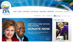Democratic Alliance Web site (South Africa, 2009)