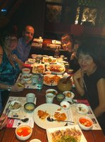 Dinner with Jeehyun Kim and friends
