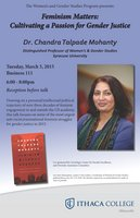 Dr. Chandra Mohanty Lecture at Ithaca College on March 3