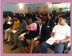 ESP students at ALANA Career                                                     Connections, Spring 2015