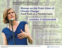 FOSSIL FUELS AS A FEMINIST ISSUE: A TALK BY SANDRA STEINGRBER