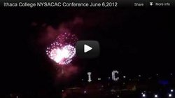 Fireworks on the Ithaca College campus