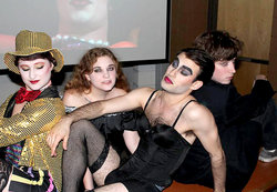 Four members of the cast of IC's 2015 production of Rocky Horror