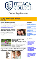 Gerontology Institute Newsletter