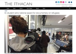 IC student wins national award for documentary on refugees