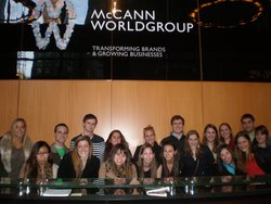 IMC student visit leading ad agencies in NYC