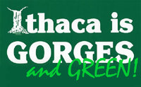Ithaca is GORGES and GREEN