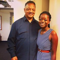 Kayiza met Rev. Jesse Jackson during her internship