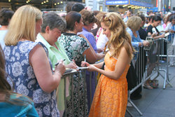 Kerry Signing Autographs