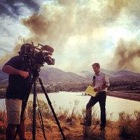 Kyle Clark '05 at a Colorado wildfire in 2012