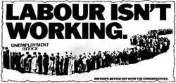 """Labour Isn't Working"" Poster (British Conservative Party, 1978)"