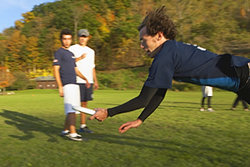 Men's frisbee at Ithaca