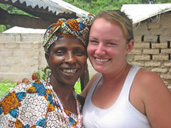 Michelle with Mamansata, a friend from Jambanjelly Village