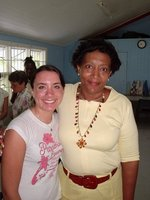 Nicole (IC students) with Principal of the Adele School