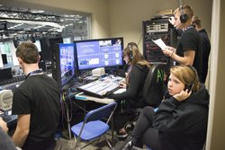 Park students built and used a control room to produce the campus's 125th celebration