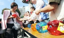 Piggy Banks in Taiwan Election