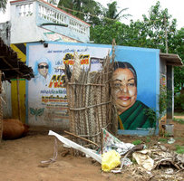 Political poster on private house in India (http://xgeronimo.wordpress.com)