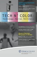 Poster for Discussion Series on Technology and Race