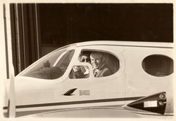 President Phillips in his plane