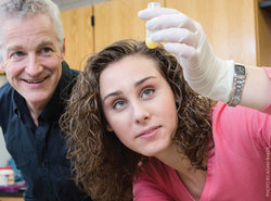 Professor Andy Smith and student Sarah Rabice '14. Photo by Adam Baker