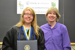 Professor Janet Hunting and Class of 2015 graduate/former peer tutor, Michelle Zyla