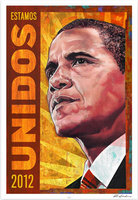 Rafael López, Poster for Artists for Obama, 2012. (http://rafaellopezbooks.blogspot.com)