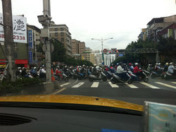 Rush hour - everyone drives a scooter.