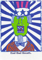 "Seymour Chwast, ""End Bad Breath,"" 1968-69 (http://www.flickr.com/photos/pinkponk/2269936193)"