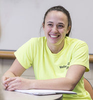 Sierra Yaple '13, M.S. '15, is an exercise behavior coach at the wellness clinic.