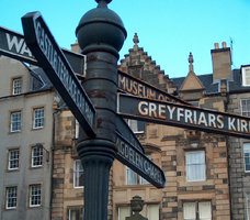 Street sign in Edinburgh