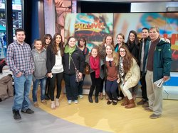 Students at Good Morning America