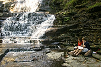 Studying at Ithaca Falls