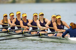 The Ithaca College women's crew team