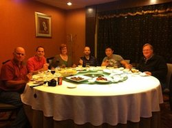 The group at dinner in Guangzhou