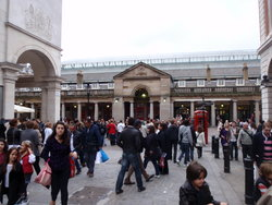 The main entrance to the Covent Garden Market