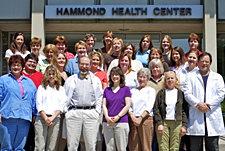 The staff at IC's Hammond Health Center