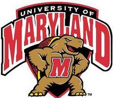 University of Maryland written around the school mascot, the Maryland Terrapin