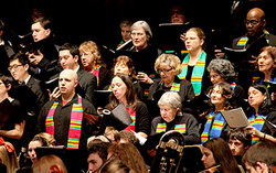 VOICES Multicultural Chorus at the concert